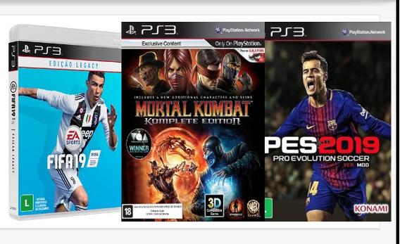Fifa 19 Ps3 + 2 Jogos Mídia Digital Leia Descrição