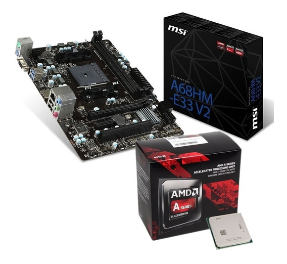 Micro Amd Apu A6-7480 Dual Core Radeon R5 + Mother Msi A68