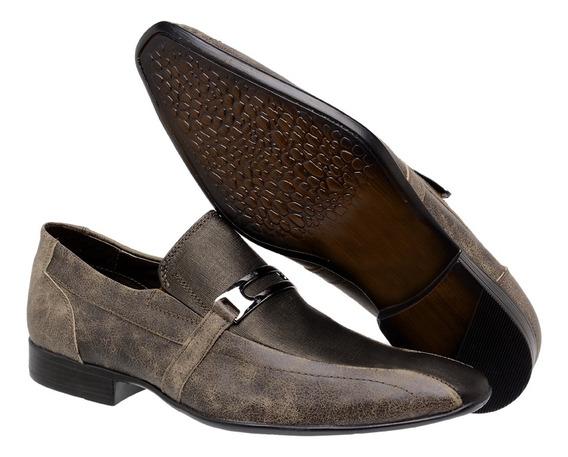 Sapato Social Masculino Stonado Jatobá 713001 - Frete Grátis