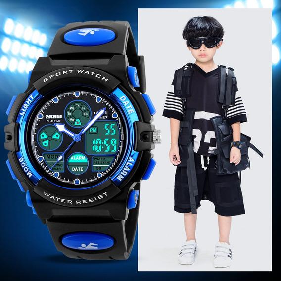 Analógico Digital Relógio Infantil Natação Skmei Esportivo