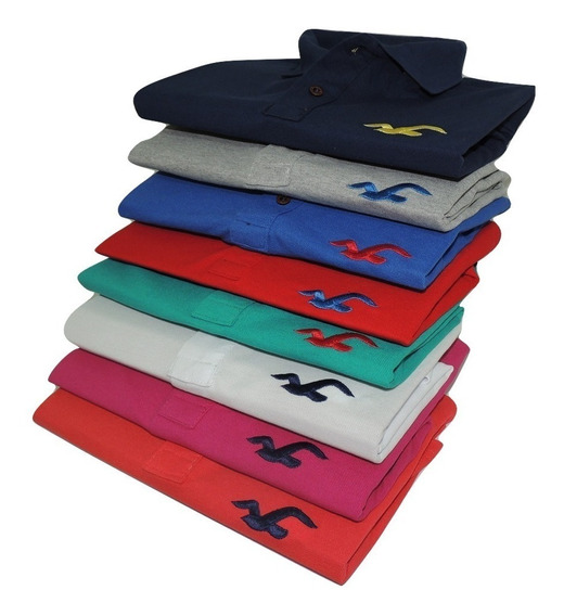 Kit 5 Camisa Gola Polo 12 Cores Masculina Revenda Top