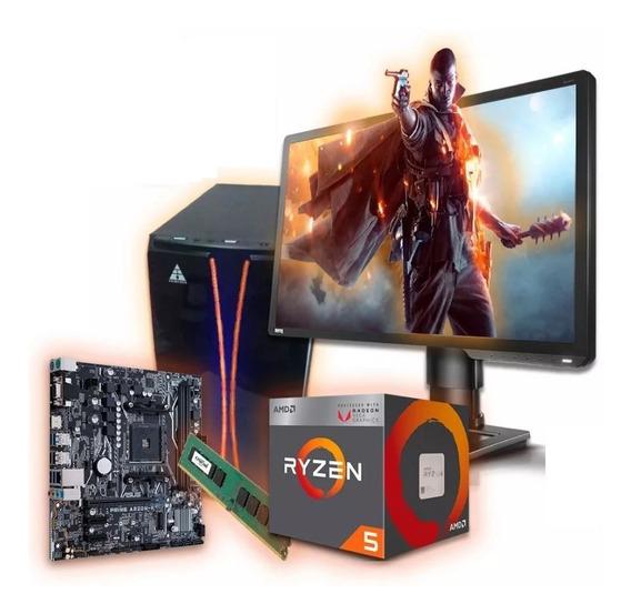 Pc Completa Gamer Amd Ryzen 5 2400g 1tb 8gb Ram
