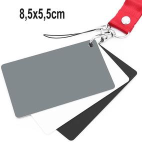Cartão Cinza 18% 3 Em 1 Balanço De Branco Estudio 8,5x5,5cm
