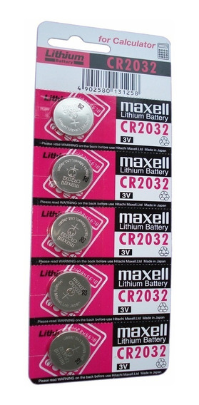 Bateria Cr2016 / 2025 / 2032 Maxell Cartela C/ 5 Unidades