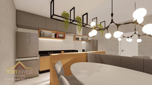 Imagem 1 de 12 de Apartamento Com 2 Dormitórios À Venda, 56 M² Por R$ 244.000 - Mirim - Praia Grande/sp - Ap2534