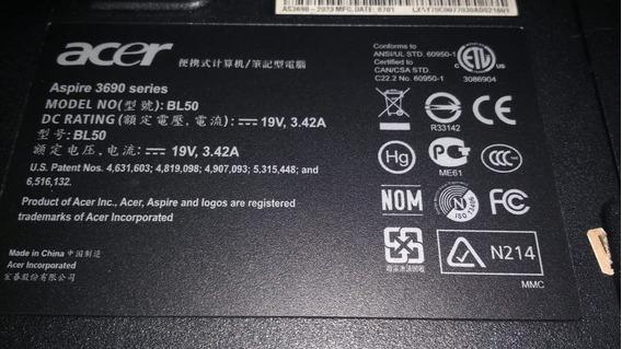 Notebook Marca Acer Modelo Aspire 3690
