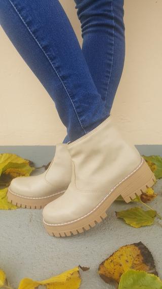 Botas Mujer Media Caña I-61 100% Cuero Fashion Shoes