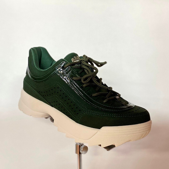 Tênis Dakota Feminino Verde Militar Chunky Sneaker - Att