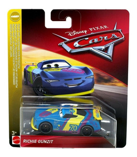 Auto Cars Richie Gunzit Mattel Original Disney Metalico