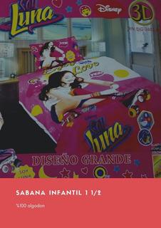 Sabana Soy Luna Infantil 1 1/2 Excelente Calidad % Algodon