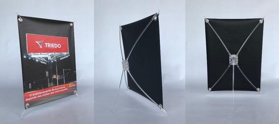 Suporte Mini X-banner Aranha - Kit 10un Para Revenda Atacado