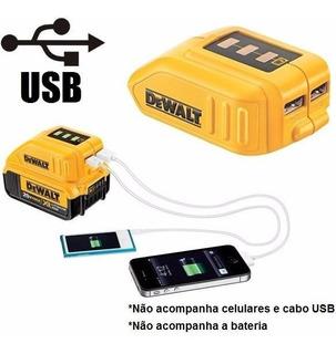Adaptador Usb Carregador Bateria Power Bank Dewalt Dcb090