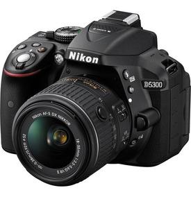 Câmera Nikon D5300 C/ Lente 18-55mm 24.2mp Wi-fi Gps Full Hd
