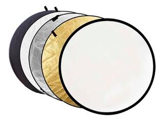 Pantalla Reflectora Plegable/colapsable 110 Cm Marca Godox 5 En 1 Con Bolsa Estuche