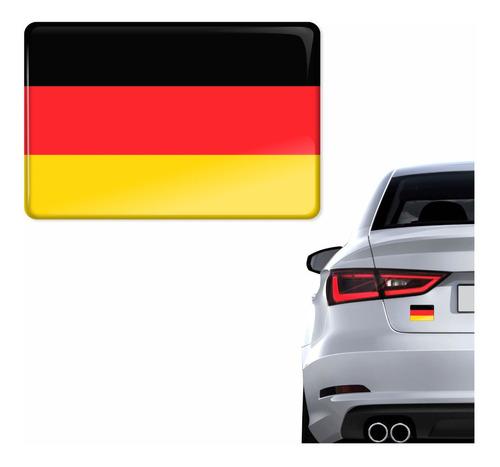 Emblema Adesivo Bandeira Alemanha 3d Resinado Carro Bd2