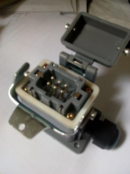 Tomada Conector Multipla 6 Pinos Steck Macho Original