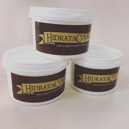 Kit 3 Ceras Hidratante Para Couros Hidratacouro
