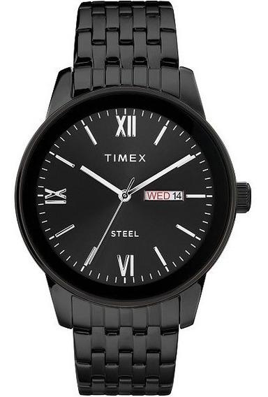 Reloj Timex Steel Tw2t50400 Acero Negro Original Para Hombre