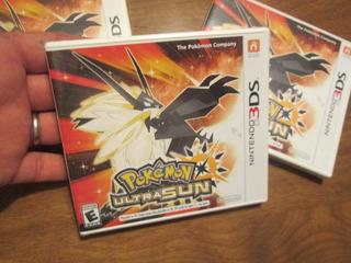 Pokémon Ultra Sun Nintendo 3 Ds Juego Pokemon Auténtico Nue