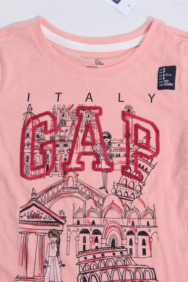 Camiseta Manga Longa Gap Menina 6-7 Anos