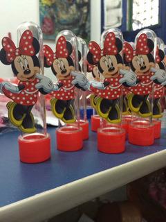 90 Tubete 30 Caixinhas 3 D Minnie Vermelha