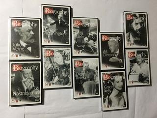 10 Dvd´s Con La Biografía De 10 Personajes De La Historia