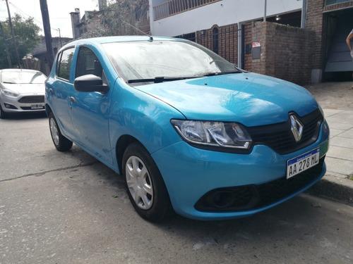 Renault Sandero Expression 2016 Azul Nafta 1 Mano