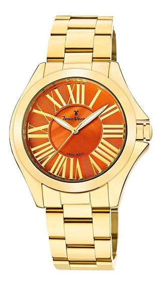 Relógio Pulso Jean Vernier Analógico Feminino Jv011271