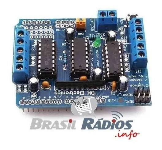 Arduino Motor Shield L293d Driver Ponte H