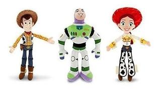 Disney Plush Toy Story Woody, Buzz Lightyear, And Jessie Dol