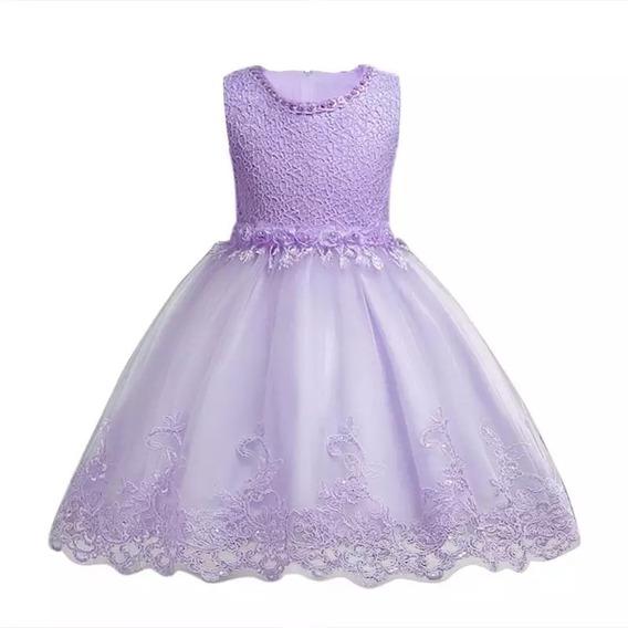 Vestido Infantil Festa Princesa Criança Batizado Daminha