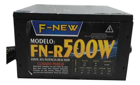 Fonte De Alimentação Atx F-new Fn-r500w