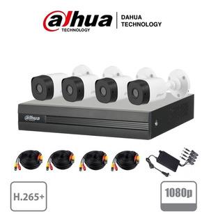 Kit Circuito Cerrado 4 Cámaras Dahua 2mp 1080p B1a21 Cctv