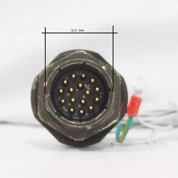 Amphenol Socapex Série 451, C/ 16 Pinos Conector Circular