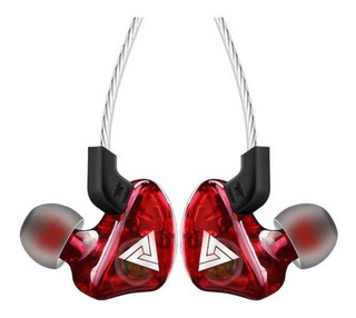 Auriculares QKZ CK5 rojo