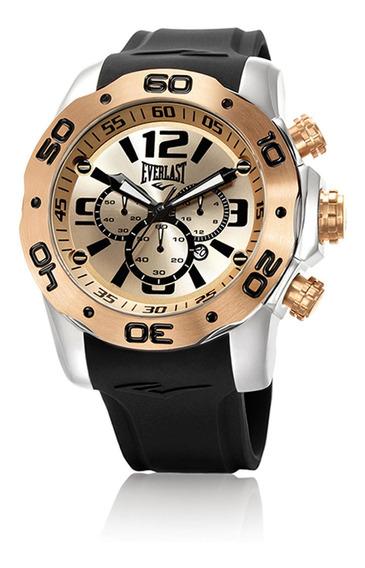 Relógio Pulso Everlast Masculino Cronógrafo Aço E555