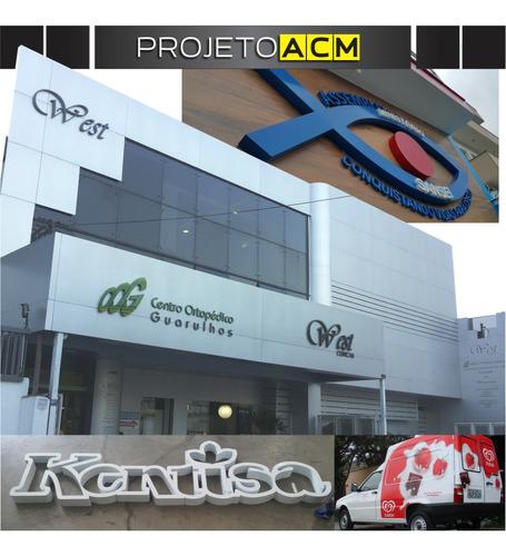 Fachadas Acm_letras Caixa_led_totem_impressão Digital