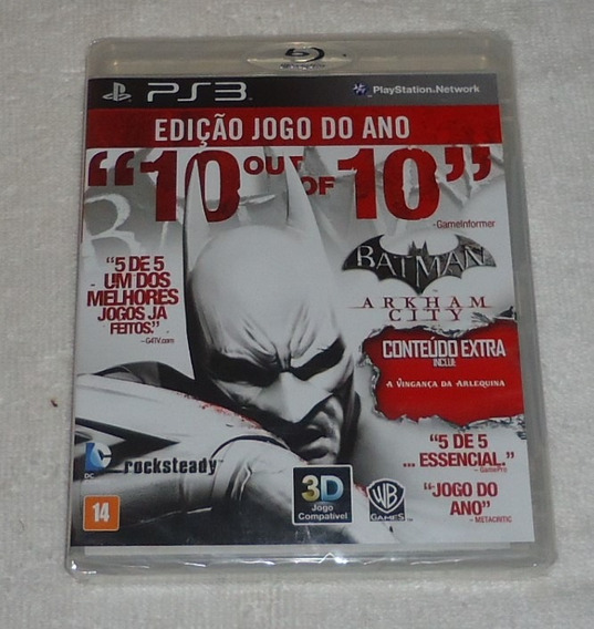 Batman Arkham City Ps3 Leg Portugues ** Frete Gratis