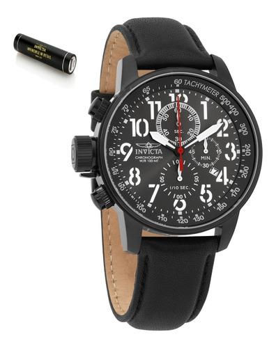 Relógio Invicta Iforce Preto Couro 28742 100% + Super Brinde