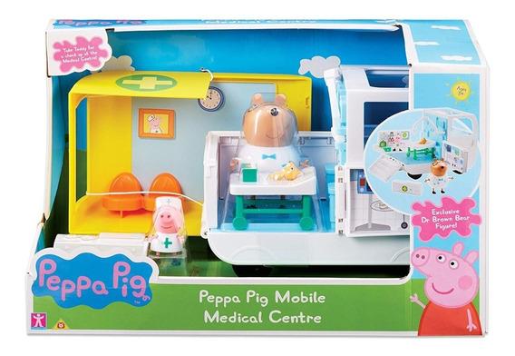 Peppa Pig Auto Ambulancia Con Muñecos Y Accesorios