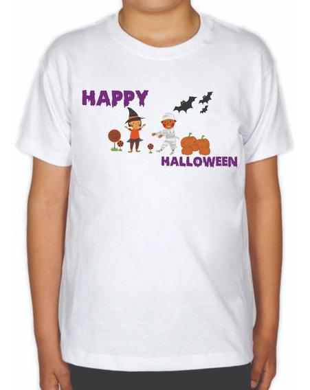 Playera De Niño Happy Halloween 100% Original Y De Calidad