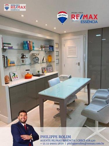 Imagem 1 de 21 de Sala, 53 M² - Venda Por R$ 250.000,00 Ou Aluguel Por R$ 2.000,00/mês - Praia Campista - Macaé/rj - Sa0004