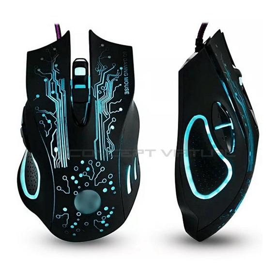 Mouse Gamer X9 Usb Leds Colorido Óptico 3200dpi Botões - Nf