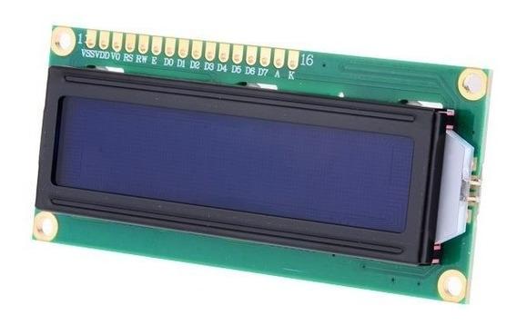 Módulo Display Lcd Fundo Azul C/escrita Branca 16 X 2