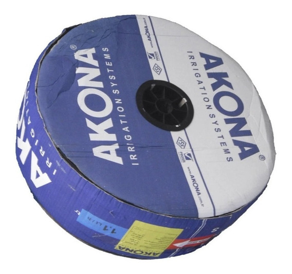 Cinta Riego Por Goteo Akona 20cm Rollo 2.500 Mts Importada