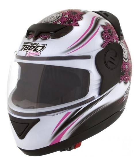 Capacete Feminino Pro Tork Evolution 788 Femme Branco/rosa *