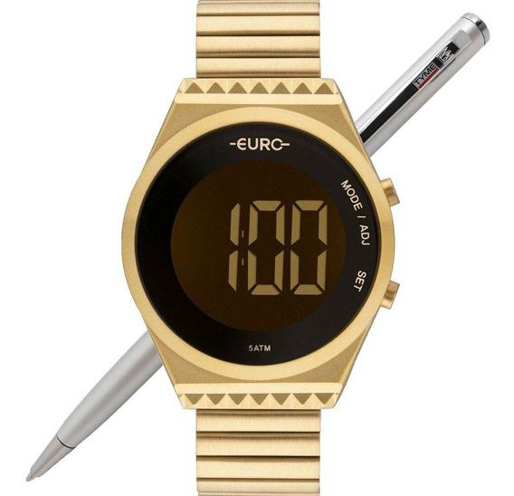 Relógio Euro Feminino Fit Slim Eubjt016aa/4d Dourado C/ Nfe