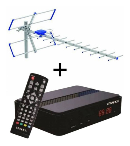 Sintonizador Para Tv Digital + Antena Exterior L Worldmaster