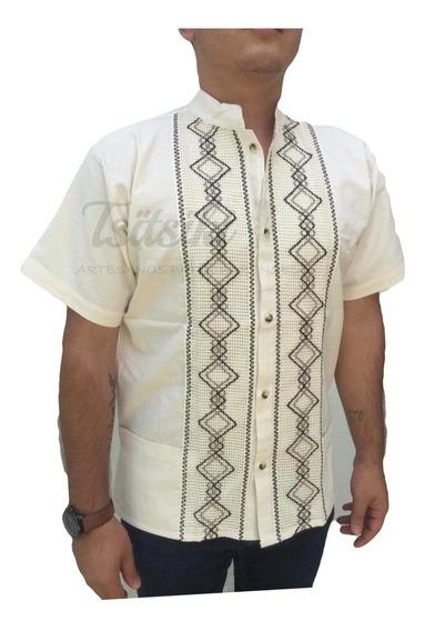 Camisa Guayabera Artesanal Manta Bordado Envío Gratis