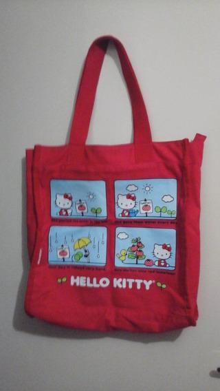 Bolsa Sacola Tecido Hello Kitty